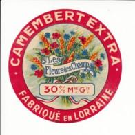 Etiquette De Fromage Camembert - Les Fleurs Des Champs - Lorraine. - Fromage