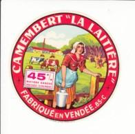Etiquette De Fromage Camembert - La Laitière - Vendée. - Fromage