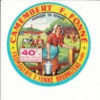 Etiquette De Fromage Camembert - Fonné - Bournezeau - Vendée. - Fromage