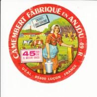 Etiquette De Fromage Camembert Luçon - Anjou. - Fromage