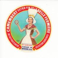 Etiquette De Fromage Camembert De La Belle Fermière - Boischaud - Indre. - Fromage