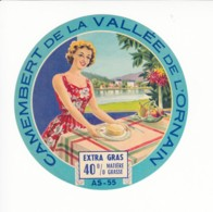 Etiquette De Fromage Camembert De La Vallée De L'Ornain. Meuse. - Fromage