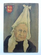 André Stéfan, Personnage Traditionnel, Coiffe Du Pays De Caux, Normandie - Künstlerkarten