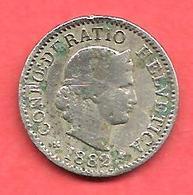 5 Rappen , SUISSE , Cupro-Nickel , 1882 B , N° KM # 26 - Suisse