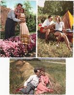 Ed Photochrom  N° 521 Serie Complète De 7 Cartes - Couple Fantaisie Camping Tente - CPSM 9x14 Etat Luxe Neuves - Couples