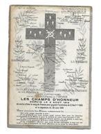 IMAGE PIEUSE...Les Victoires De La Marne Et De La Meuse. LES CHAMPS D'HONNEUR Depuis Le 2 Août 1914.. GUERRE 1914-18 - Devotieprenten