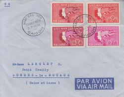 Enveloppe  VIETNAM   Série  Sports  Et  Jeunesse  1961 - Viêt-Nam