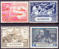 1949 ASCENSION SG #52-55 Compl.set Used UPU - Ascension (Ile De L')