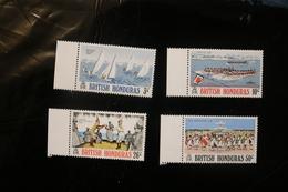 British Honduras 308-311 Fesivals Of Belize Boats Ships Race Dance MNH 1973 A04s - British Honduras (...-1970)