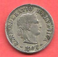 5 Rappen , SUISSE , Cupro-Nickel , 1907 B , N° KM # 26 - Suisse
