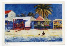Illustrateur  Léo -- Caraibes  --- Timbre  -- Cachet - Künstlerkarten