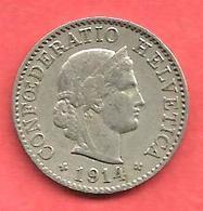 5 Rappen , SUISSE , Cupro-Nickel , 1914 B , N° KM # 26 - Suisse