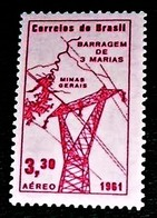 """Brazil,1961,Industry ,Electrification -""""Tres Marias', MNH.Michel # 996 - Usines & Industries"""