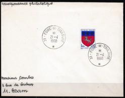 1968 FOIRE DE TOULOUSE SUR Y&T N° 1510 - Poststempel (Briefe)