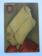 André Stéfan, Personnage Traditionnel, Coiffe De La Région De Saumur, Anjou - Künstlerkarten