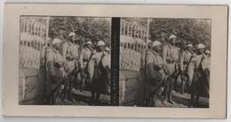 Photo Originale Stereo Militaria WWI Tirailleurs Sénégalais - Stereoscopic