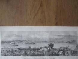 Gravure  1872  Les Iles  ANDAMANS ANDAMAN PORT BLAIR  Pénitencier  Des Indes Anglaises   Lord Mayo - Inde