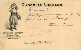 CHOCOLAT  SUCHARD GRAND PRIX EXPOSITION UNIVERSELLE PARIS 1900    Advertisement   Advertising. - Publicité