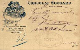 CHOCOLAT  SUCHARD GRAND PRIX EXPOSITION UNIVERSELLE PARIS 1900    Advertisement   Advertising. - Publicidad