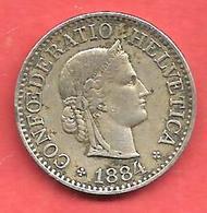 10 Rappen , SUISSE , Cupro-Nickel , 1884 B , N° KM # 27 - Suisse