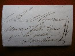 MARQUE DE TOULOUSE 28 MM TAXE 4 LETTRE AUTOGRAPHE MENGAU CELEYRAN  1740 - Marcophilie (Lettres)