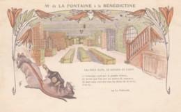 De La Fontaine Fable Set In Benedictine Liquor Advertisement C1900s Vintage Postcard, Rats In Cellar - Publicité
