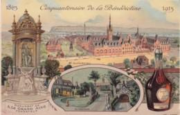 50th Anniversary Benedictine Liquor Advertisement Former And Present (1913) Buildings, C1910s Vintage Postcard - Publicité
