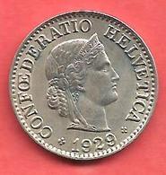 10 Rappen , SUISSE , Cupro-Nickel , 1929 B , N° KM # 27 - Suisse