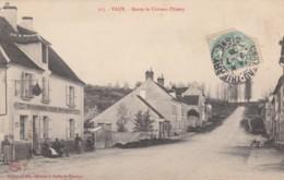 Vaux France, Route De Chateau-Thierry Street Scene Village, C1900s Vintage Postcard - Autres Communes