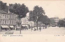 Liege Belgium, Boulevard D'Avroy Street Scene, C1900s Vintage Postcard - Liege