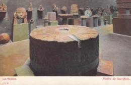 Mexico National Museum Aztec Sacrificial Stone Piedra De Sacrificio, C1900s Vintage Postcard - Mexico
