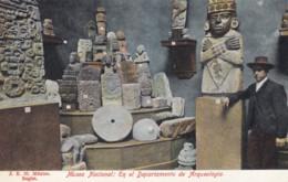 Mexico National Museum Aztec Archeology Idols Stones Native Art, C1900s Vintage Postcard - Mexico