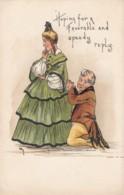 HB Griggs 'H.B.G.' Artist Signed Image 'Hoping For A Favorable Speedy Reply' Romance Fashion C1900s/10s Vintage Postcard - Künstlerkarten