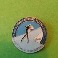 SPORT INVERNALI SPILLE Campionati Nazionali Assoluti Pattinaggio Velocità Madonna Campiglio 1968 - Italy