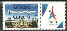 France N° 5144  Paris JO 2024  SURCHARGE 13-09-17 LIMA - Frankreich