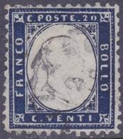 ITALIA 1862 VEII 20c Indaco Ben Centrato Usato - 1861-78 Vittorio Emanuele II