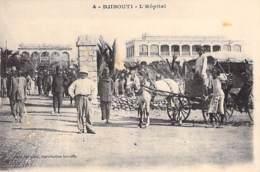 DJIBOUTI  - L'Hopital ( Attelage En 1er Plan ) CPA - - Djibouti