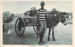 DJIBOUTI  - Porteur De Sable ( Bon 1er Plan Attelage Avec âne ) CPA - - Djibouti