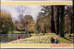 Ak Neuseeland - Christchurch - Frühling - River Avon - Neuseeland