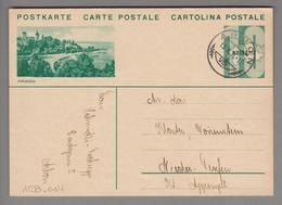 Schweiz GS Bildpostkarte Zu#128.004 übereinstimmend Arbon 1931-10-13 - Entiers Postaux
