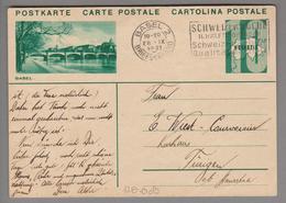 Schweiz GS Bildpostkarte Zu#128.009 übereinstimmend Basel 2 1931-09-28 - Entiers Postaux