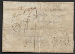 1832 - LAC - Cursive 14 ALLANCHES (Allanche) 31mm X 12mm (CANTAL) - 1801-1848: Précurseurs XIX