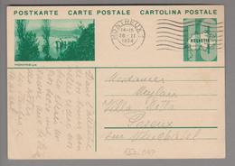 Schweiz GS Bildpostkarte Zu#133.047 übereinstimmend Montreux 1934-02-26 - Entiers Postaux