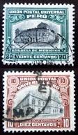 1907  Pérou Yt 137, 138  Oblitérés - Pérou