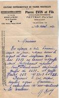 VP14.284 - Lettre - Pierre EVIN Et Fils Viticulteurs - Pépiniéristes à METTRAY - Agriculture