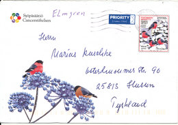 Finland Postal Stationery Christmas Cover 27-12-2010 Cancerstiftelsen Sent To Germany - Finlande