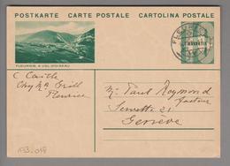 Schweiz GS Bildpostkarte Zu#133.018 übereinstimmend Fleurier 1934-08-14 - Entiers Postaux
