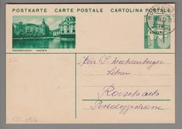 Schweiz GS Bildpostkarte Zu#133.053 übereinstimmend Rorschach 1933-09-04 - Entiers Postaux