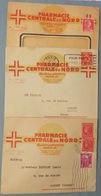 Lot De 3 Enveloppes PHARMACIE Centrale Du Nord - Paris Rue Lafayette - Cachets Postaux - ALBERT Somme 1949 1950 1953 - Entiers Postaux