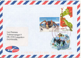 Vanuatu Air Mail Cover Sent To Denmark 17-2-2010 Very Good Franked With Nice Topic Stamps - Vanuatu (1980-...)